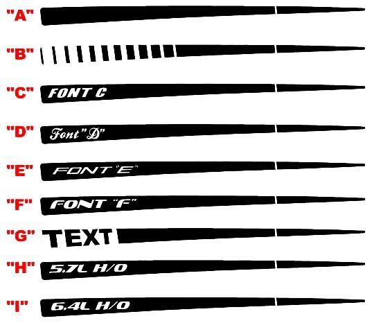 2015 & Up Ladegerät Daytona Style Q.P. Streifen-Kits