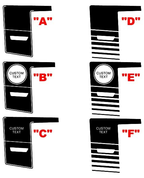 2011 - 2014 Ladegerät Super Bee Style Quarter Panel Stripe Kits