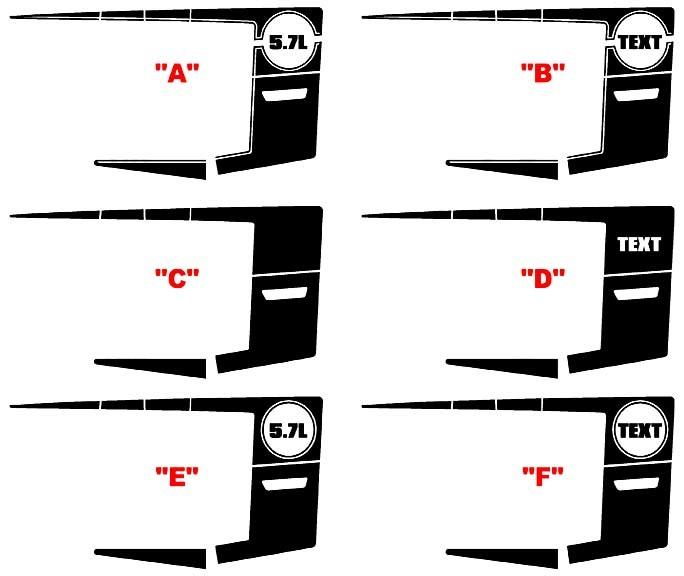 2011 - 2014 Charger 1970 Super Bee inspirierte Quarter Panel Stripe Kits
