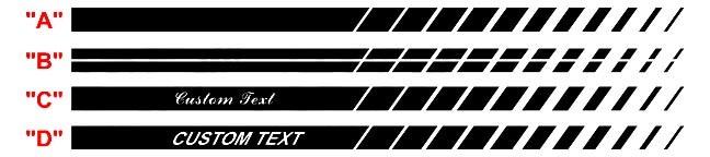 2011 -2014 Ladekipphebel-Streifen-Kits