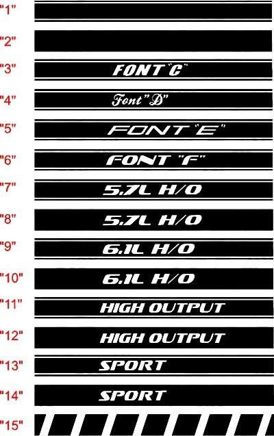 2006-2010 Charger Rocker Panel Stripe Kits