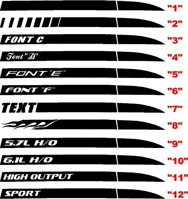 2006-2010 Ladegerät Daytona Style Q.P. Streifen-Kits