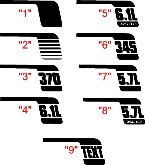 2006-2010 Ladegerät Quarter Panel Cuda Style Retro Hockeyschläger-Kit
