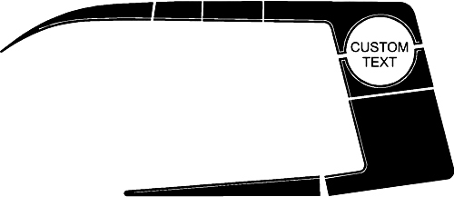 2006-2010 Ladegerät 1970 Super Bee inspirierte Quarter Panel Stripe Kits