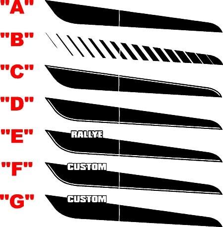 2013 & Up Dodge Dart Volloberkörper-Streifen-Kit