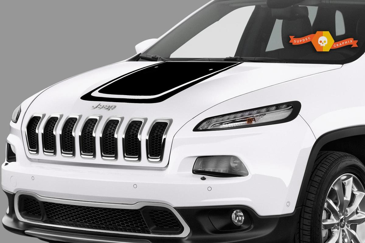 [NRIO_4796]   Product: 2017 & Up Jeep Compass Hood Decal | 2017 Jeep Cherokee Windshield Banner |  | SupDec Graphix