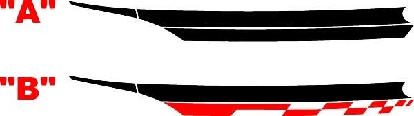 2013 & Up Dodge Dart Front Fender Akzentstreifen