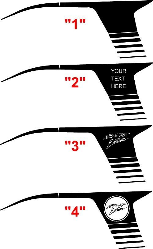 2008 & Up Dodge Avenger Super Bee Style Viertelpaneel-Streifen-Kits