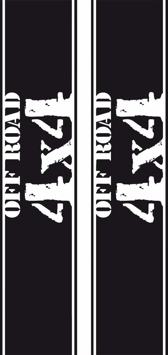 Universal 4x4 Off Road Distressed Truck Bed Decal set, Many colors, Made in USA