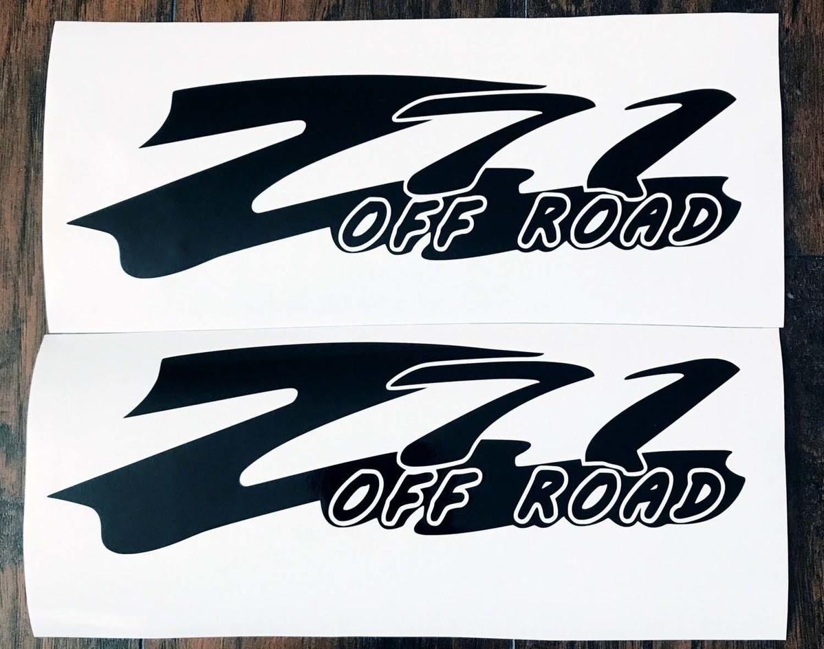 Chevy Z71 Off Road Body Decals Neues 2PC Set 14 Farben Silverado Tahoe Suburban