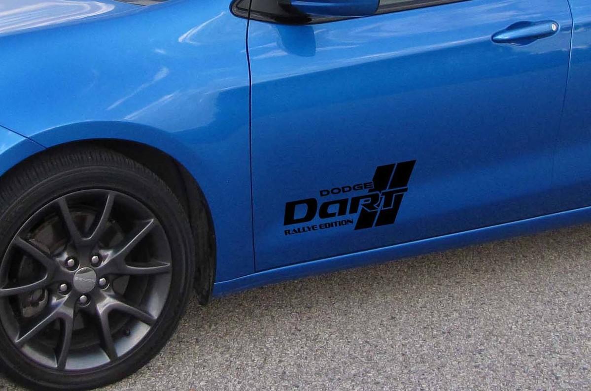 2013 2014 2015 2016 13 14 15 16 Dodge Rallye Dart Tür Logo Aufkleber Set