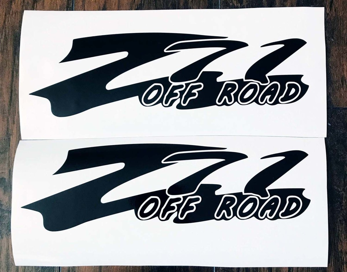 Product z71 off road body tailgate fender decals 2pc set body window sticker vinyl for silverado tahoe gmc sierra c3