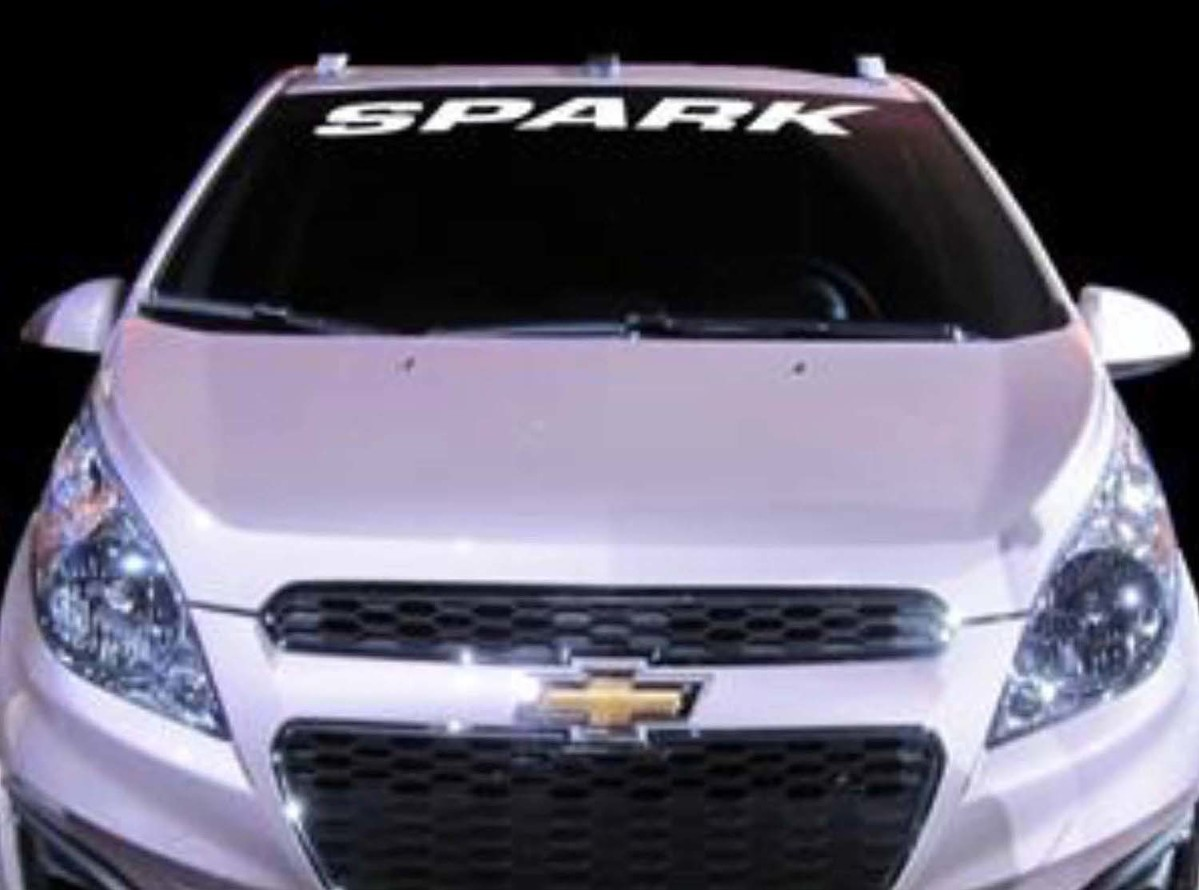 1950-2017 Chevrolet Spark Vinyl Windschutzscheibe Aufkleber Aufkleber New Custom 1PC 10 Farben