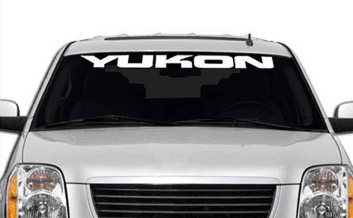 1950-2017 GMC Yukon Denali Vinyl Windschutzscheibe Karosserie Aufkleber Aufkleber New Custom 1PC 10 Farben