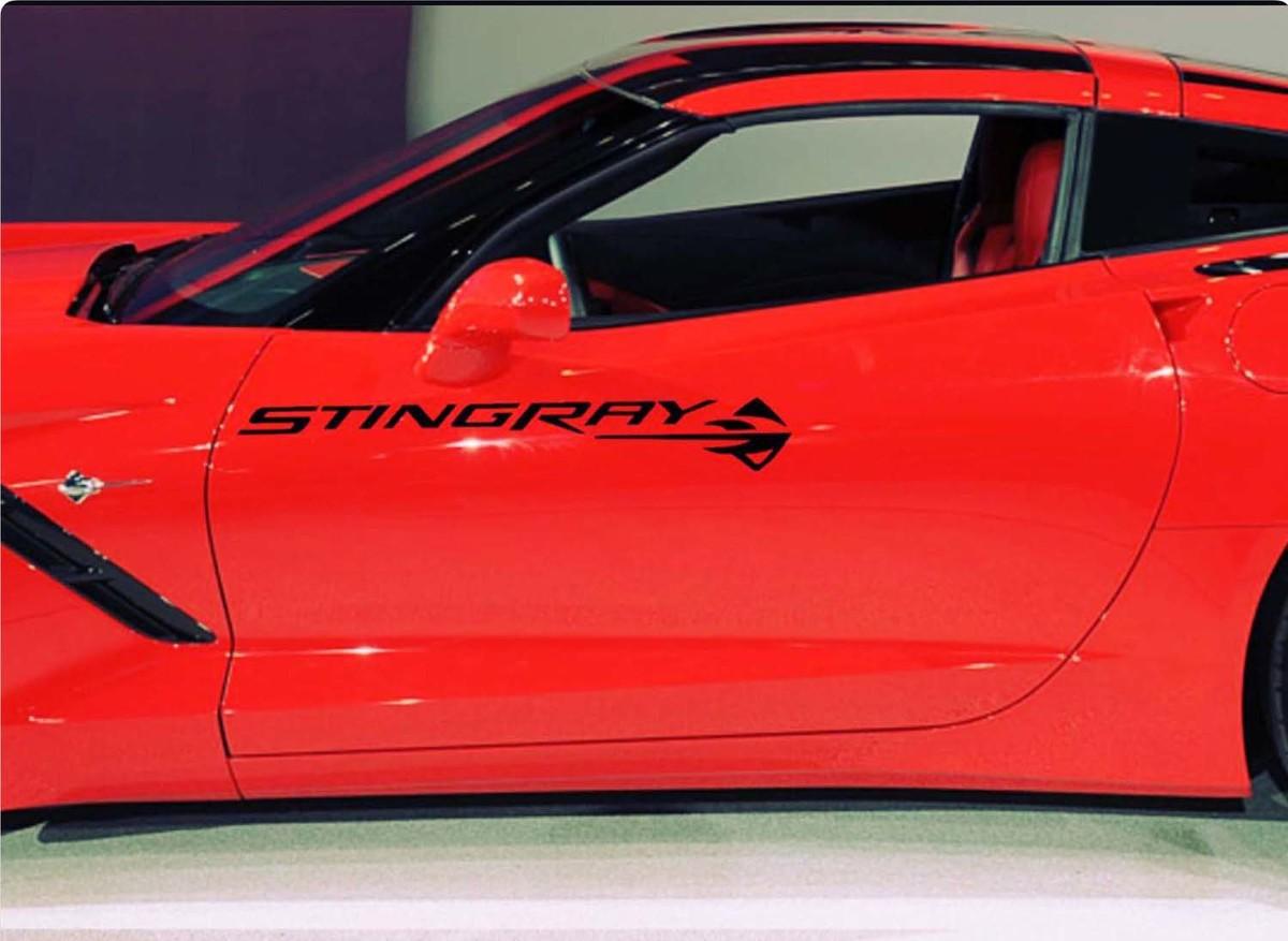 1950- 2017 Chevrolet Corvette Stingray Z06 Motorhauben-Türaufkleber Neues 2PC-Set Z06