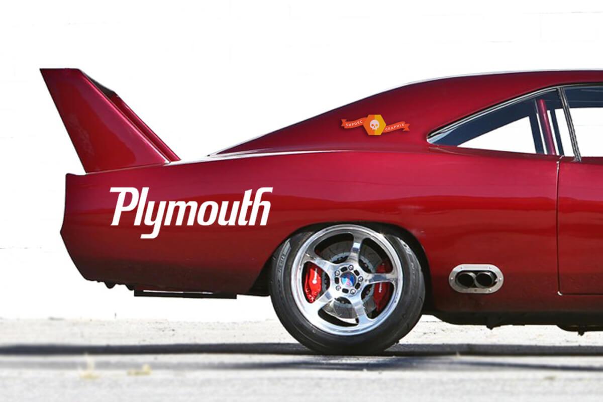 1950-2017 Plymouth Cuda Mopar Viper Ladegerät Hellcat Windschutzscheiben-Aufkleber Neues 1PC Ram Hellcat Challenger