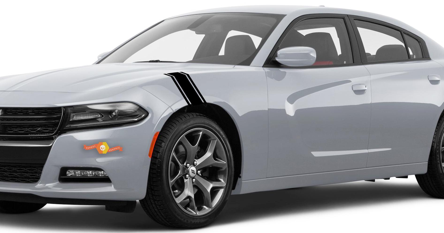 Komplettes Kit mit Aufklebern Decas kompatibel mit Dodge Charger No154