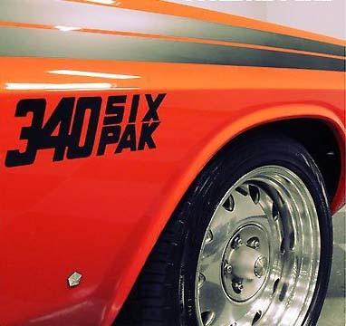 1950-2017 Dodge Mopar 340 Six Pak Viper Ladegerät Hellcat Windschutzscheiben-Aufkleber Neuer 2PC Ram Hellcat Challenger