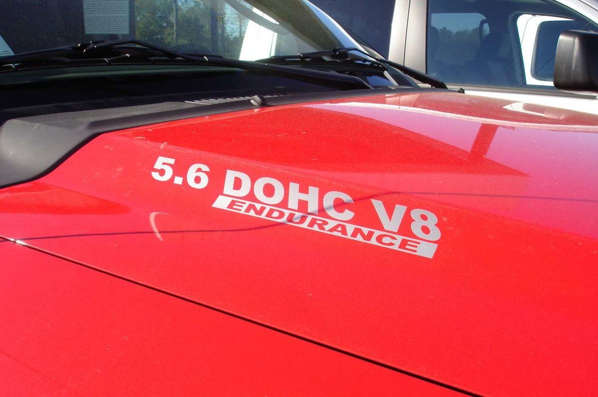 5.6L DOHC Endurance HOOD DECALS - Fits: Nissan Titan Truck
