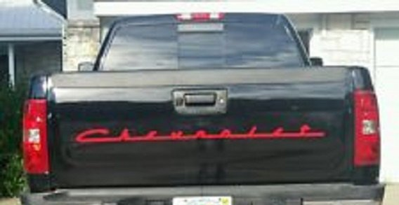 Chevrolet Old Style Script Font Gm Tailgate Decal Color Choices
