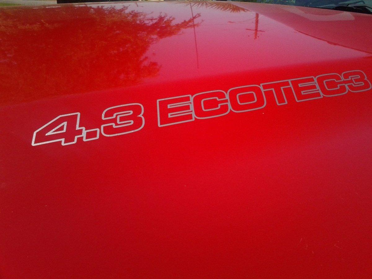 4.3L ECOTEC3 Haubenaufkleber - Chevrolet