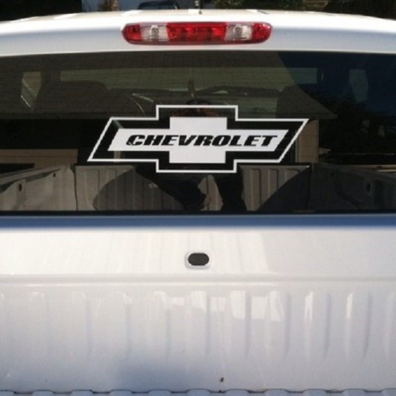 3ft Chevy Bowtie Rear Window Large Vinyl Decal Sticker Chevrolet Pick A Color Ebay