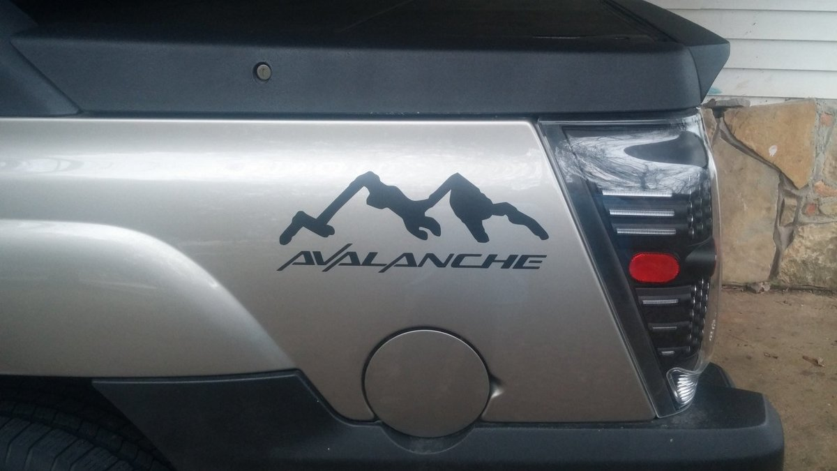 Chevy AVALANCHE Bed Side Decals + Farbwahl