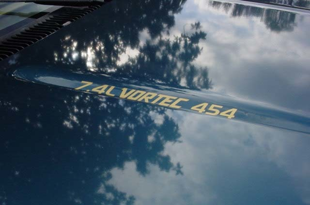 7.4L VORTEC 454 Hood Decals Your choice of color
