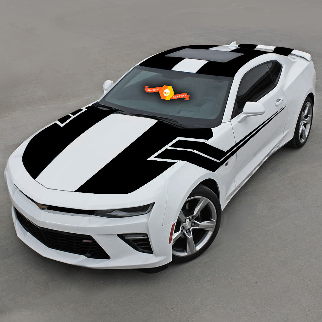 CHEVROLET CAMARO 2016-2018 TOP AND SIDE STRIPES COMPLETE SET