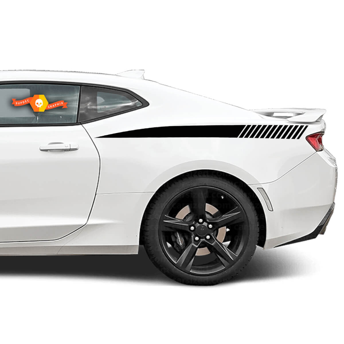 Chevrolet Camaro 2010-2020 Rear Quarter Side Accent Decal Stripes