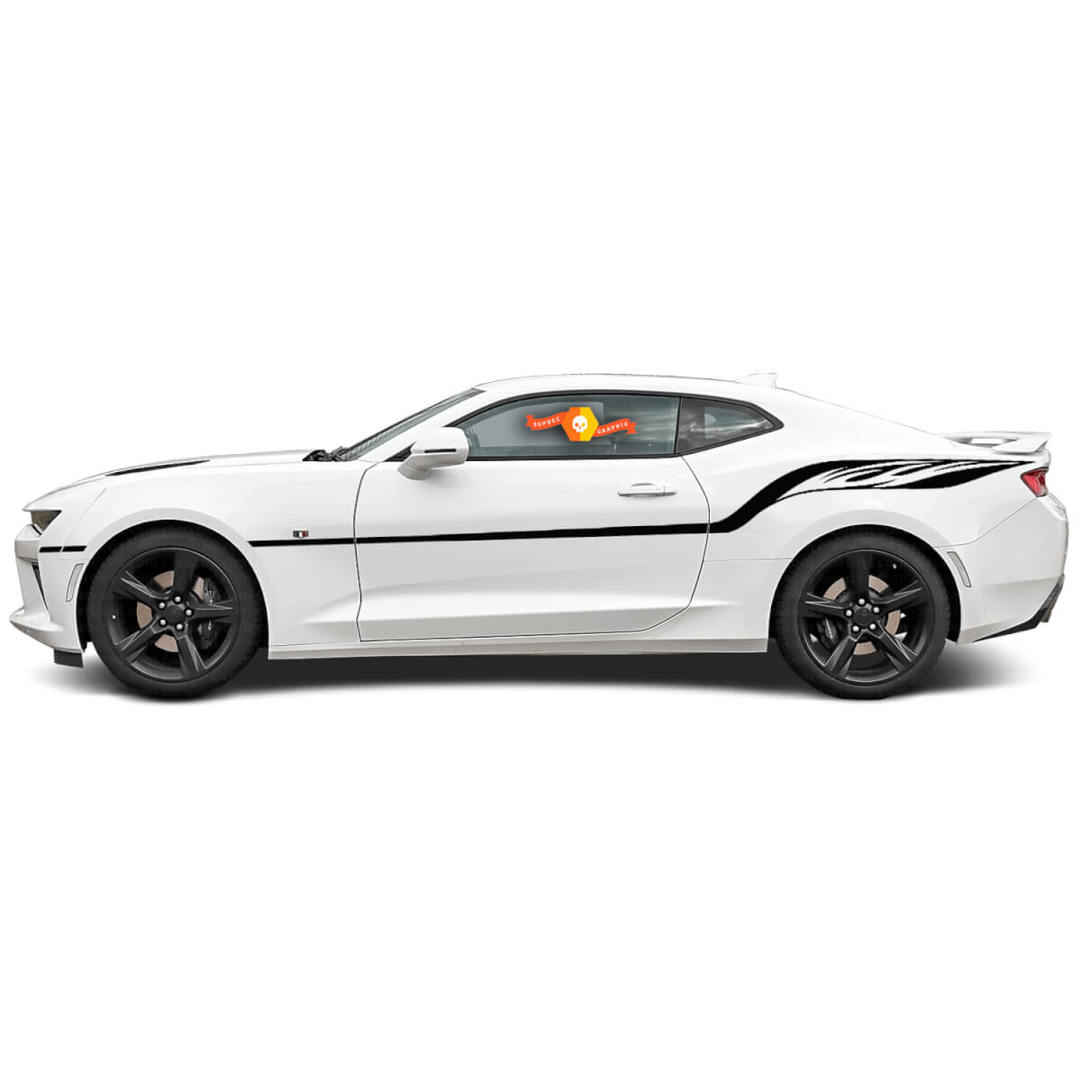 Chevrolet Camaro 2010-2020 Fire Wings Style Side Stripes