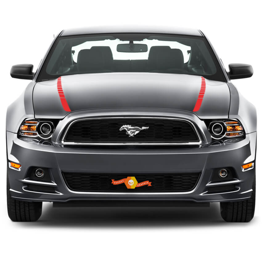 FORD MUSTANG 2013-2020 HOOD SPEAR SIDE ACCENT STRIPES