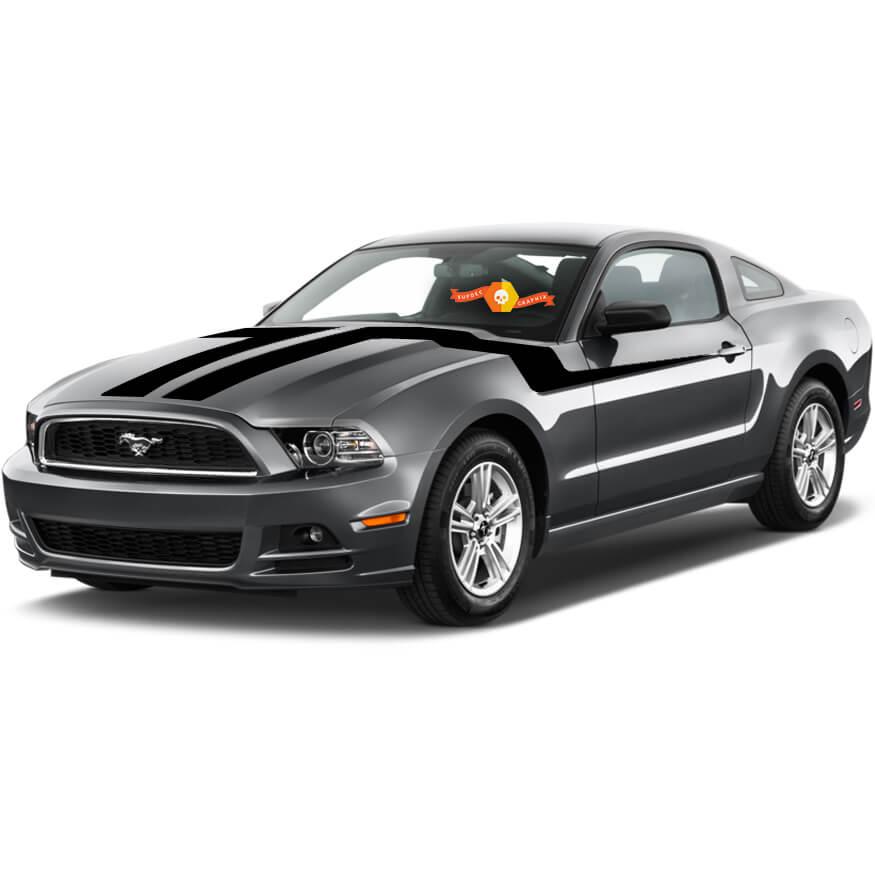 Ford Mustang 2013-2020 Motorhaube zur Seite doppelte Akzentstreifen