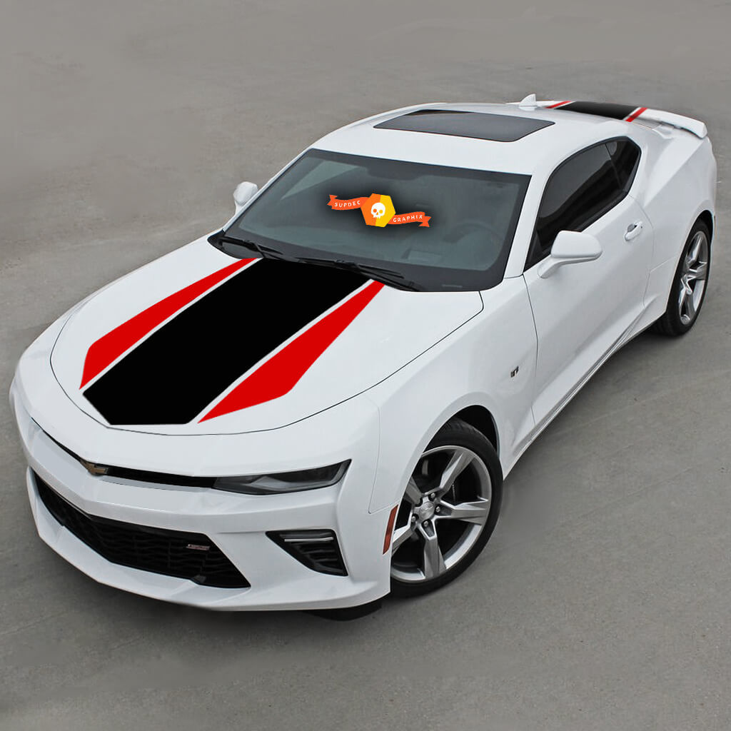 CHEVROLET CAMARO 2016-2020 (RS,LT) FRONT AND REAR 2-TONE STRIPES