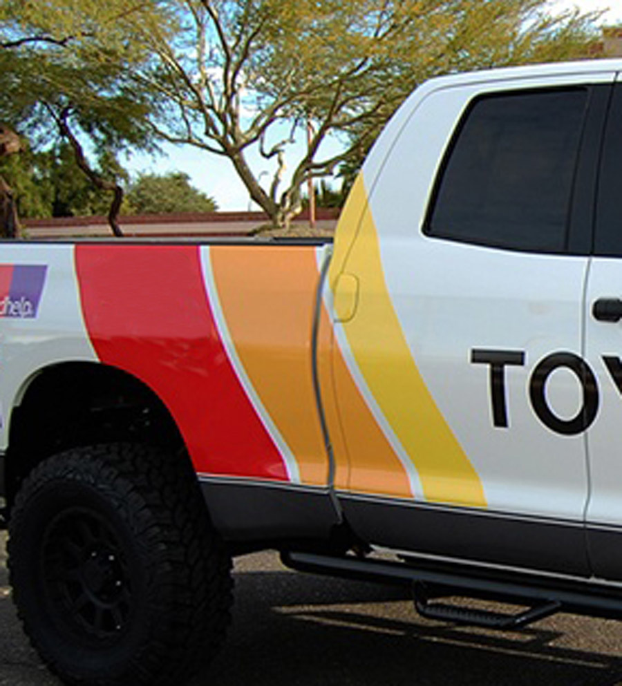 2 side Old school toyota tundra graphics vinyl decals stickers