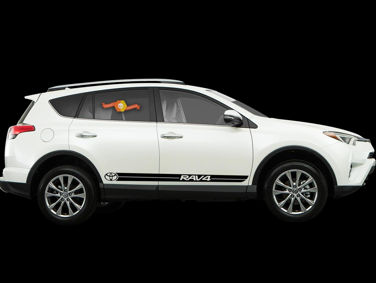 Product toyota rav4 2x body decal side stripes vinyl graphics sticker hight quality