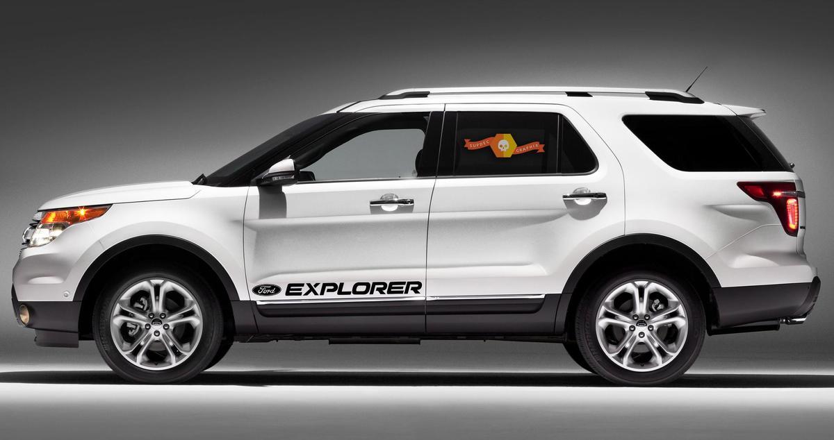 FORD EXPLORER 2x Körper Aufkleber Seitenaufkleber Logo Grafiken Vinyl hohe Qualität