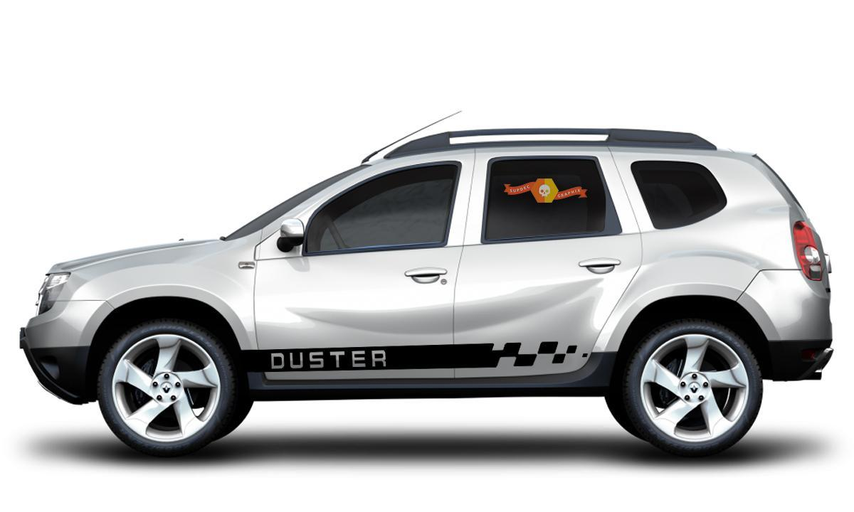 DUSTER Renault & Dacia 2x side stripes body decal vinyl graphics sticker logo