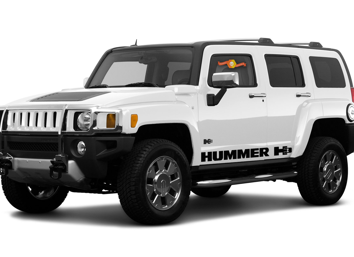 HUMMER H3 side 2x stripes body decal vinyl graphics sticker hight quality