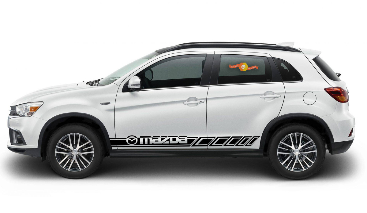 Product mazda cx3 cx5 cx7 2x side stripes vinyl body decal sticker logo high quality