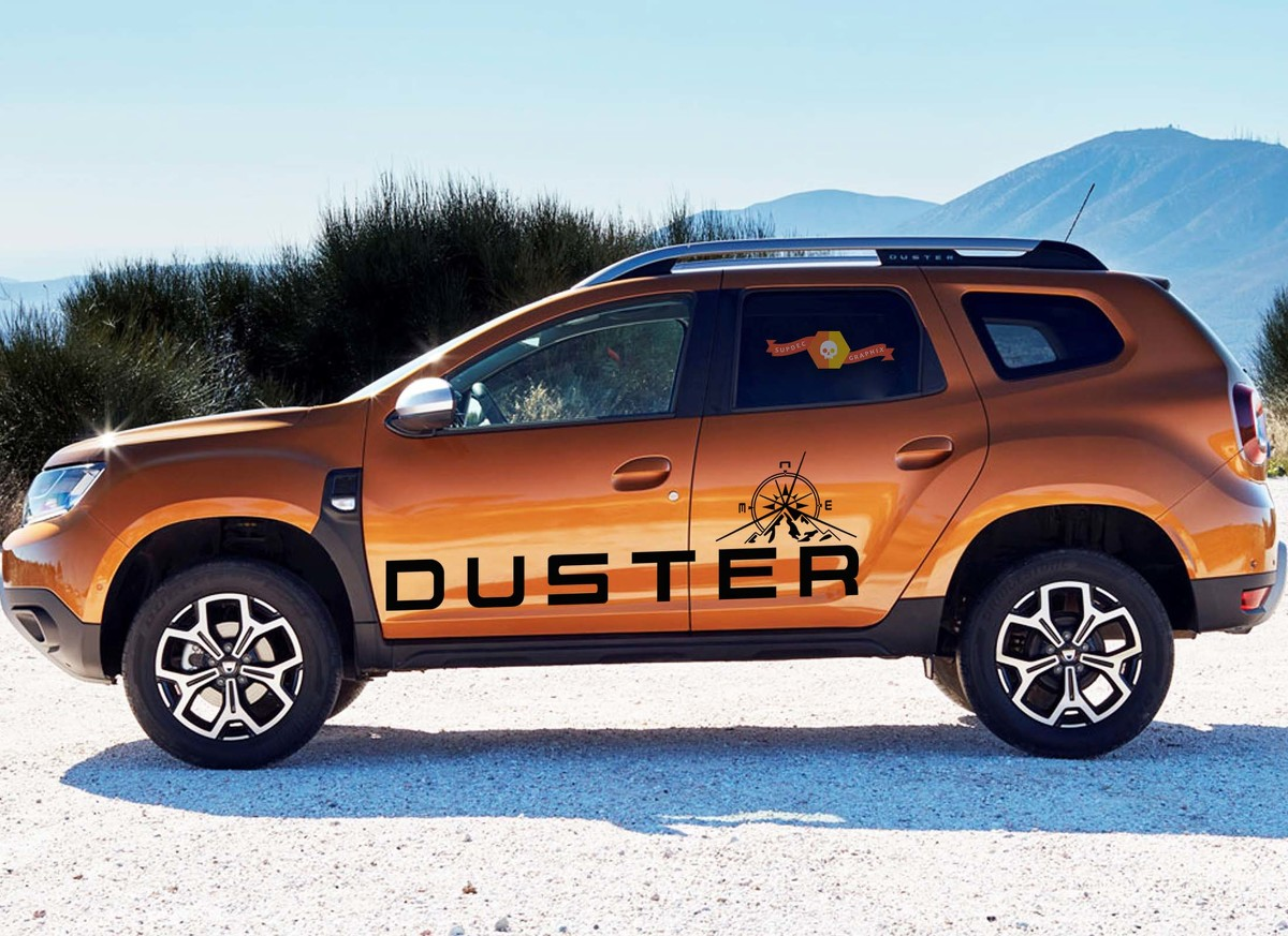 DUSTER Renault & Dacia 4xPieces side Compass decals vinyl graphics sticker logo