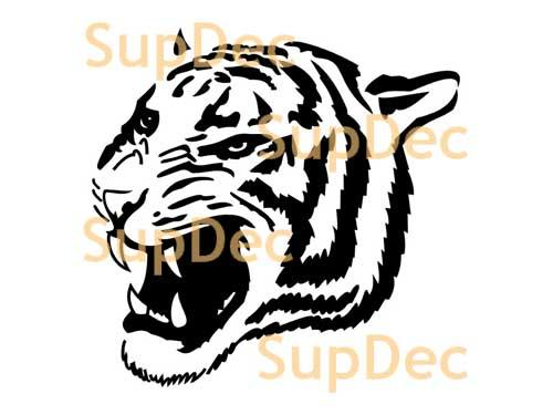 Tiger wild cat Vinyl Wall  Window Bathroom Sticker Decal #5