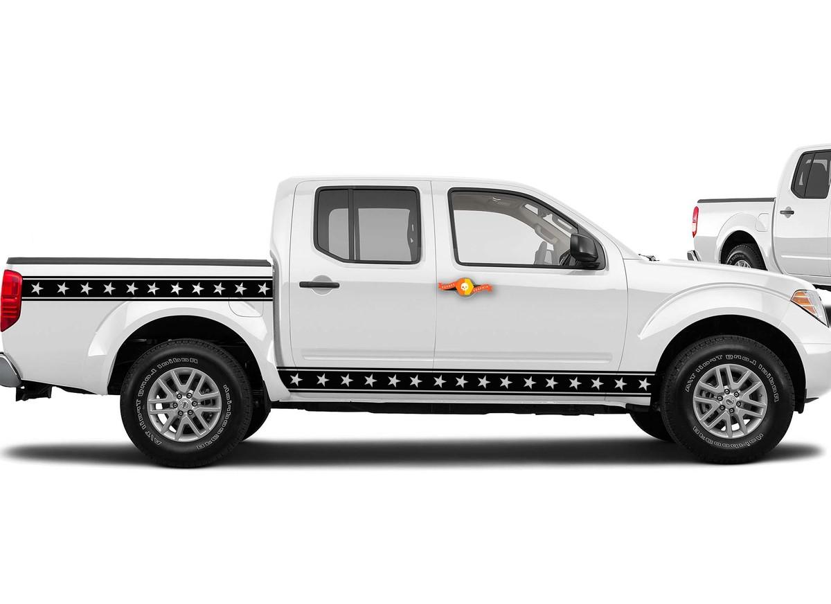 UNIVERSAL Decal Stars and Stripes passt für die meisten Autos und Lastwagen FORD TOYOTA GMC
