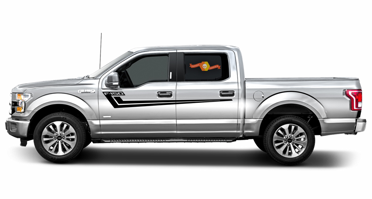 2X Ford F-150 HOCKEY side Vinyl Decals graphics rally sticker 2017-2018