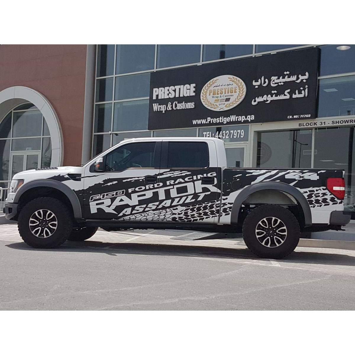 F-150 Ford Raptor Schlammspritzer Reifenspur Aufkleber Grafiken Aufkleber Vinyl Aufkleber Grafik