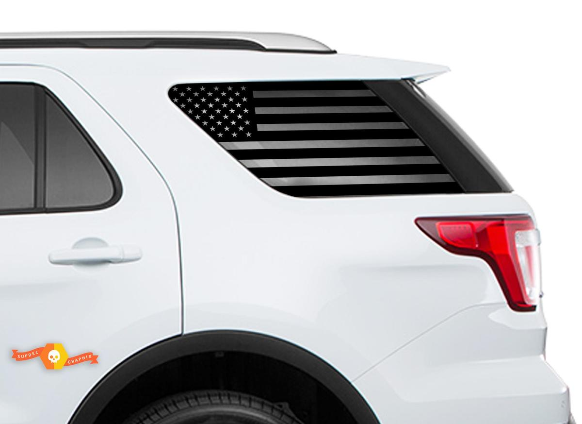 2011-2018 Ford Explorer Sport - USA Flag Windschutzscheibenaufkleber für Heckscheibenaufkleber