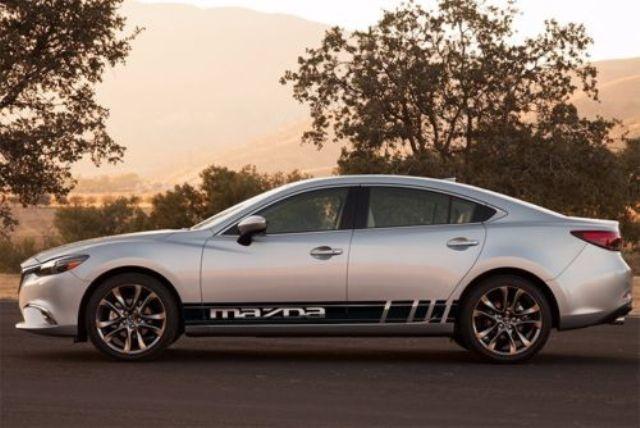 2X Mehrfarbige Grafik Symbol Mazda Mazda 6s Autorennen Aufkleber Aufkleber