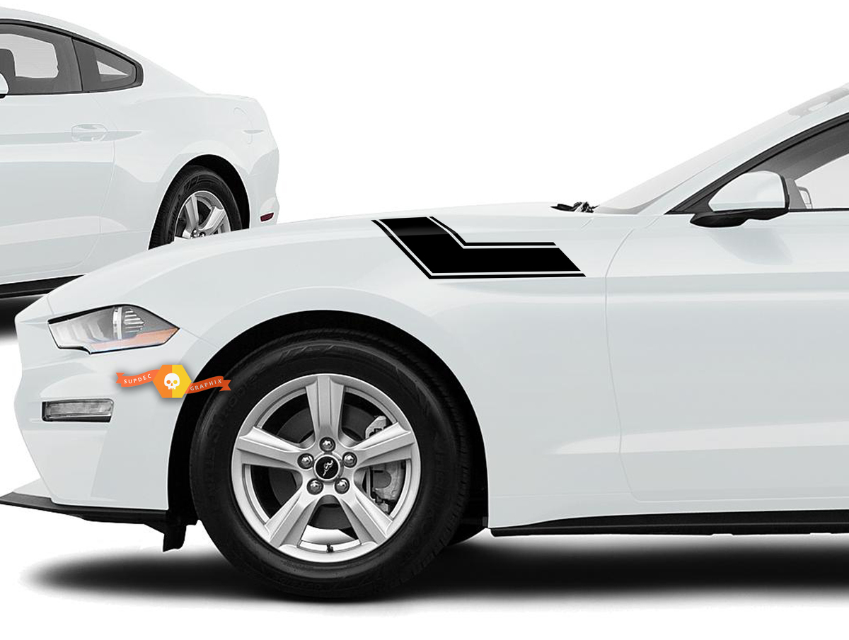 2015 - 2020 Ford Mustang Kotflügel / Motorhaube Aufkleber Kits, sehr schön