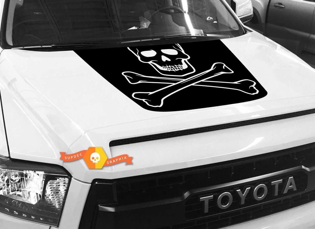 Product big skull hood graphics decal for toyota tundra 2014 2015 2016 2017 2018 2