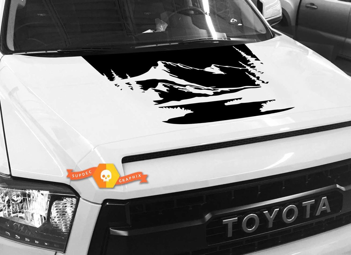 Mountains Forest River Hood graphics decal for TOYOTA TUNDRA 2014 2015 2016 2017 2018